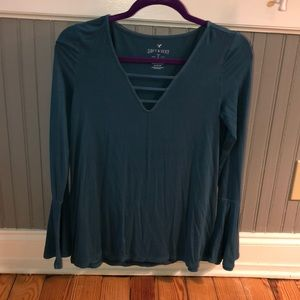 soft and sexy shirt with flared sleeves